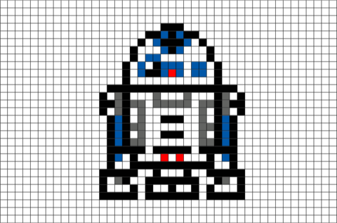 Pixels drawing star wars. R sultat de recherche