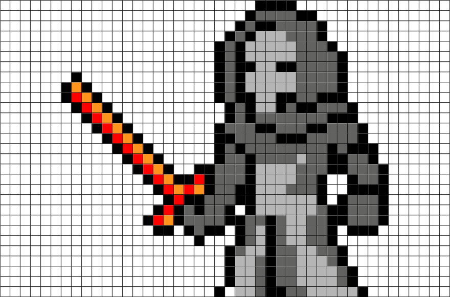 Pixels drawing star wars. Kylo ren pixel art