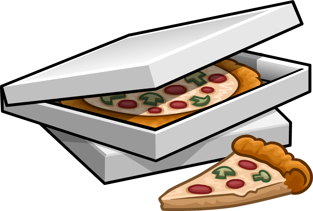 Pizza boxes png. Image of puffles wiki