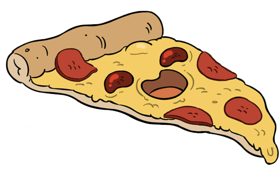Pizza cartoon png. Hangover today is cheese