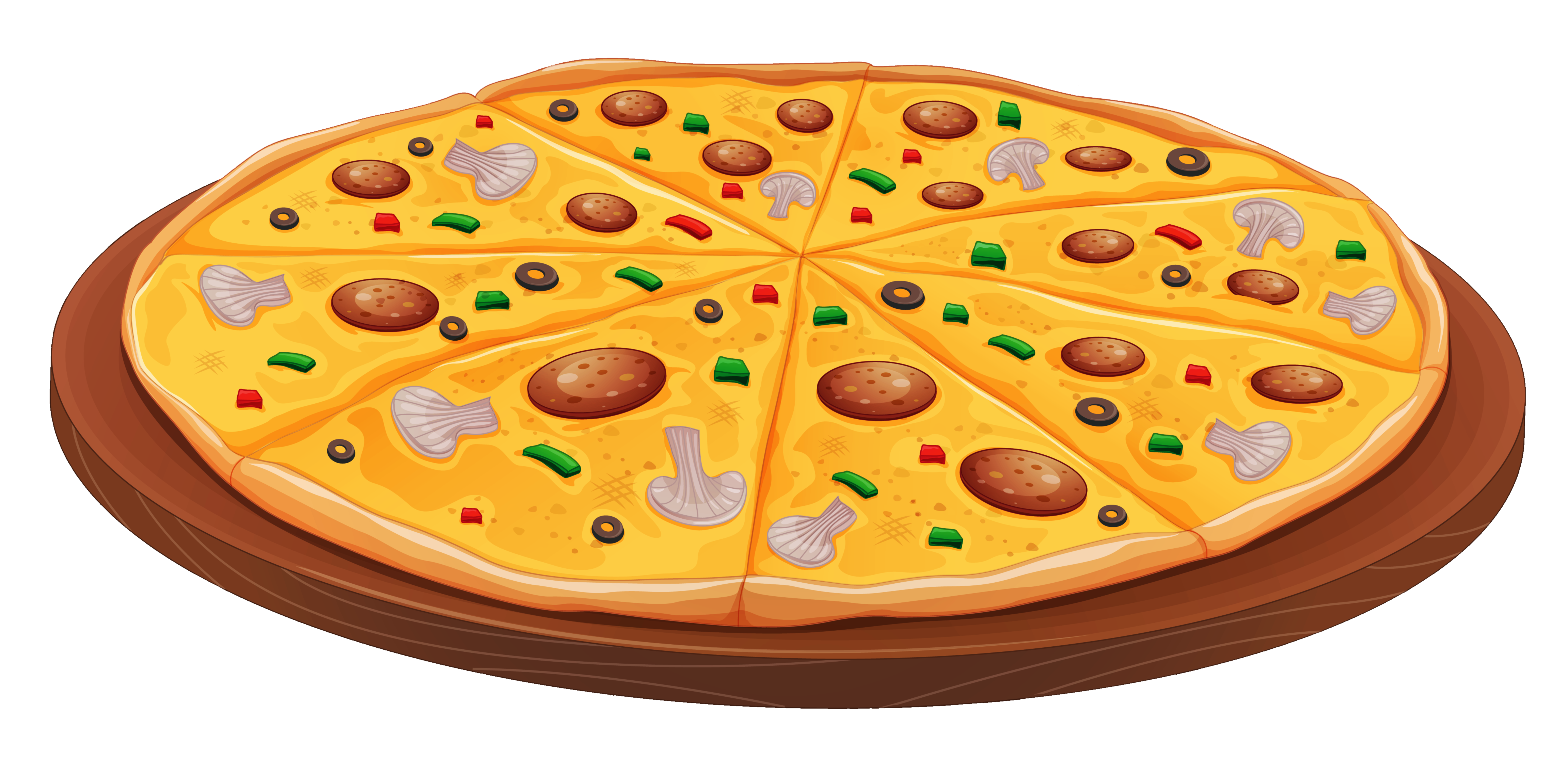 Pizza clip art png. With mushrooms clipart gallery