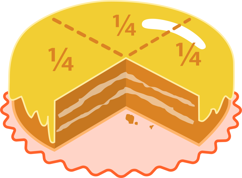 Pizza mathematics fraction bars. Fractions clipart free