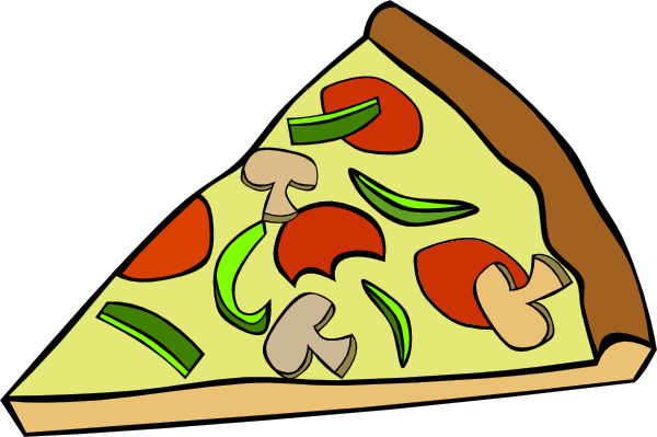 Pizza clip pie. Banner royalty free