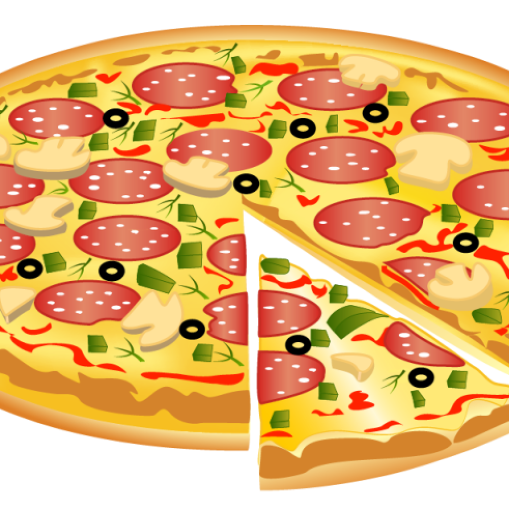 Pizza clip pizzza. With crown vector download