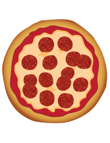 Pizza clip whole. Cheese banner stock