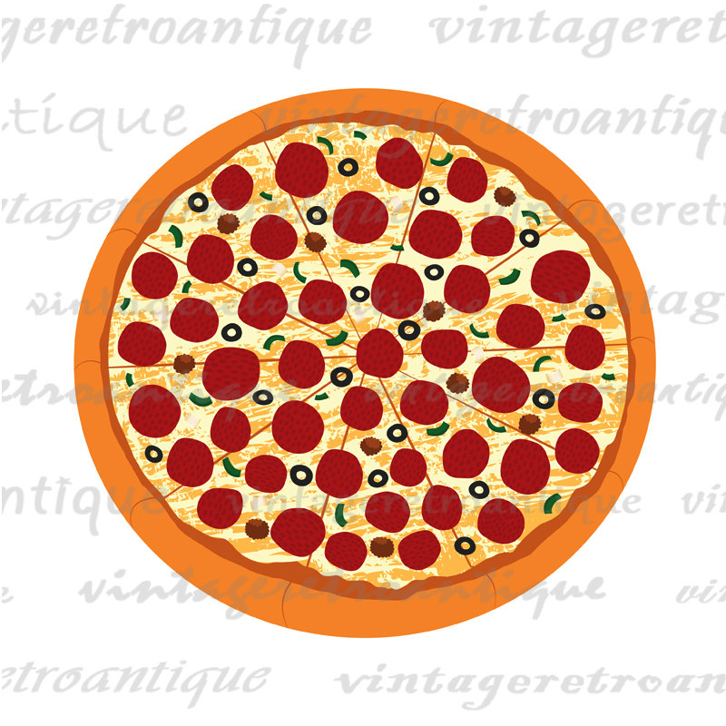 Pizza clipart graphic. Graphics printable digital vector