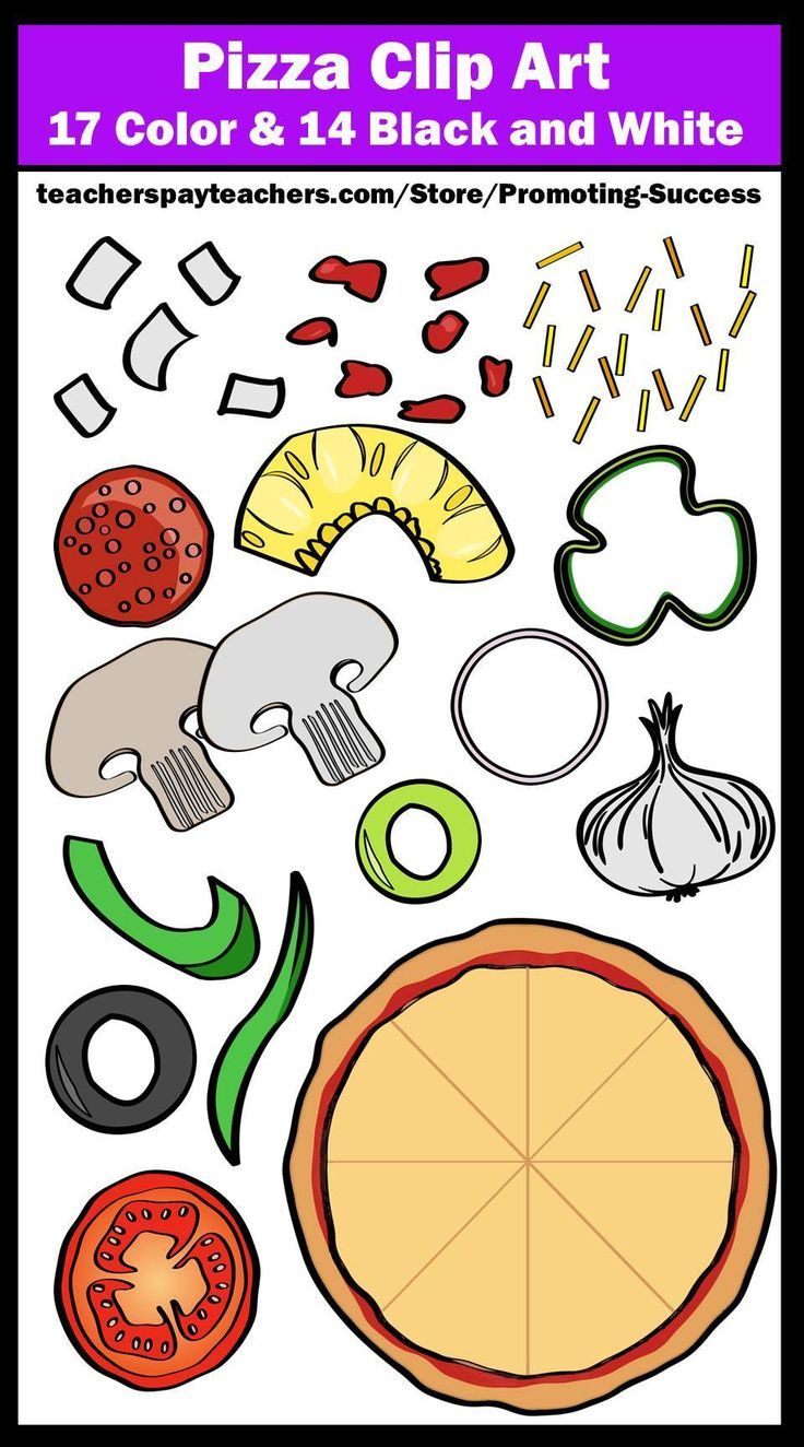 Pizza clipart pizaa. Build a with toppings