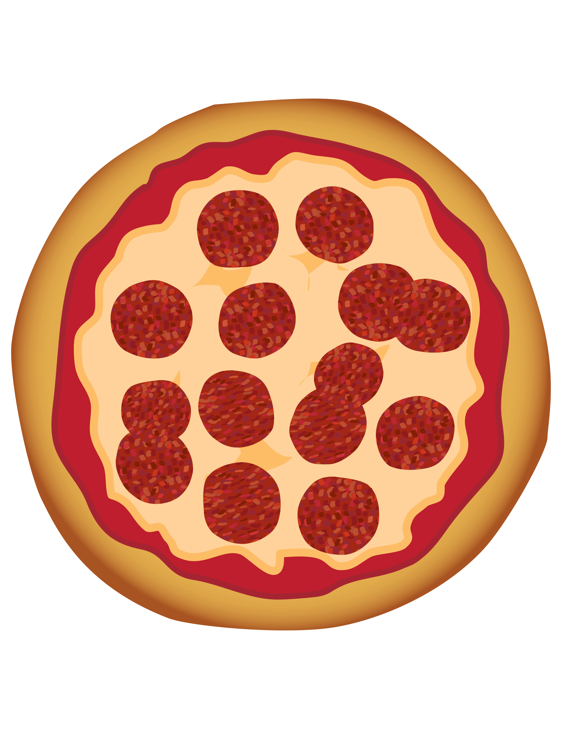 Fraction drawing pizza. Free pictures of a