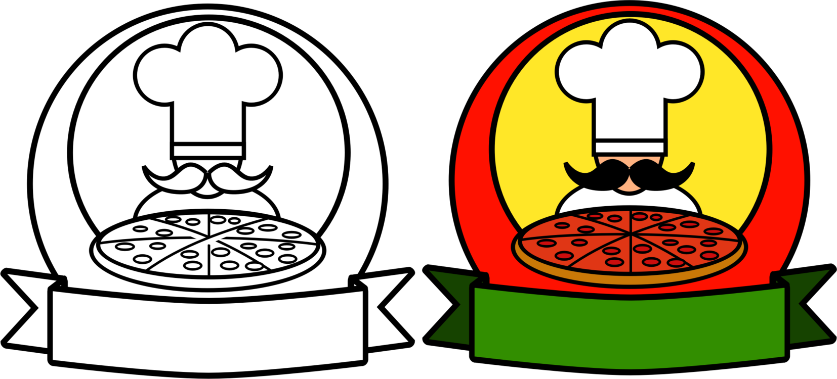 Pizza clip restaurant. Chef cooking free commercial