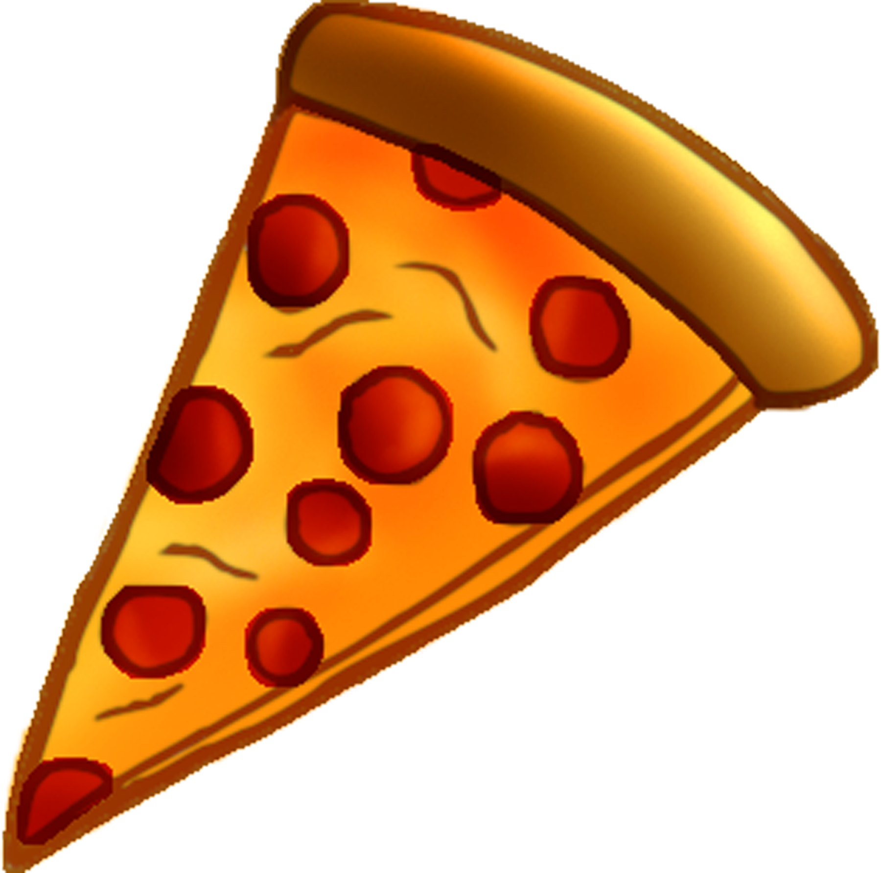 Pizza slice clipart . Pepperoni transparent one jpg black and white