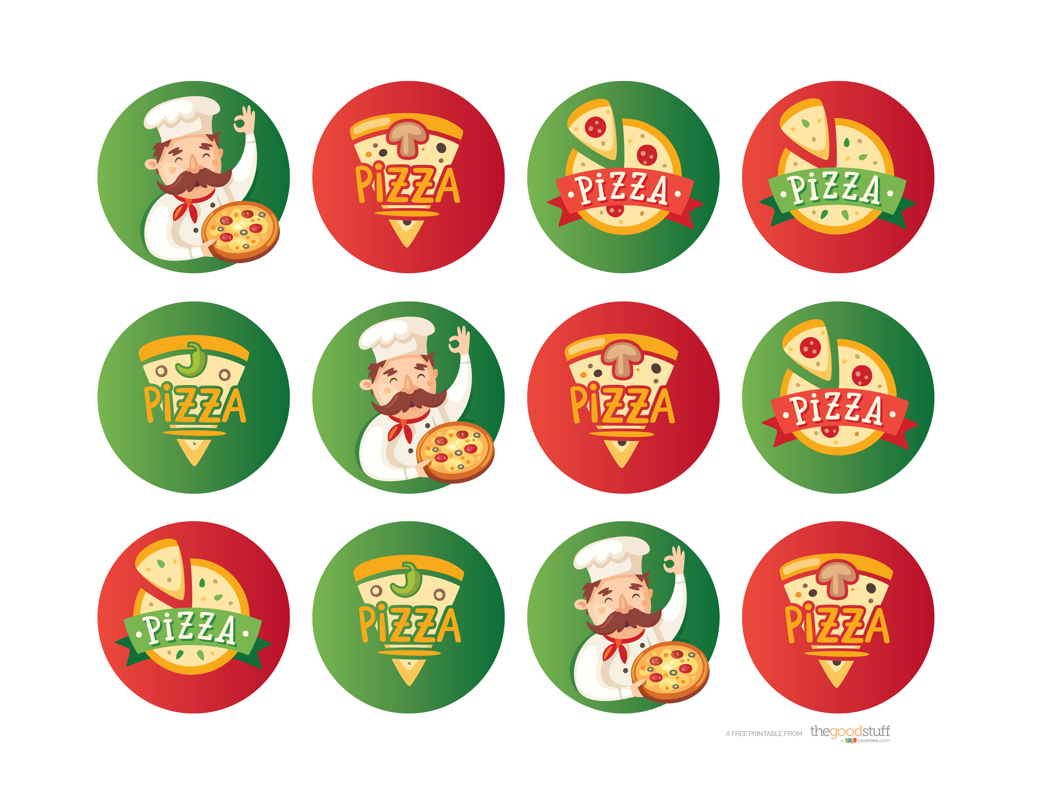 Pizza party png. Hostess helpers free printables