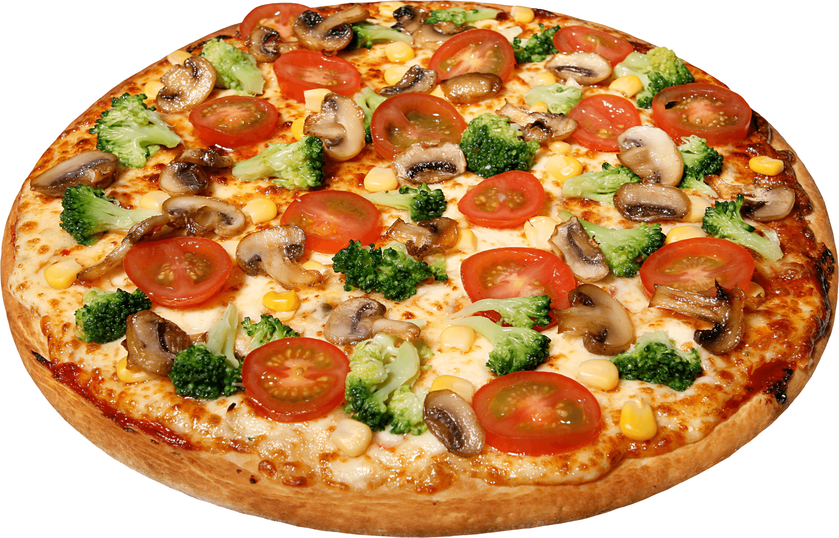 Pizza png transparent. Large with tomatoes stickpng