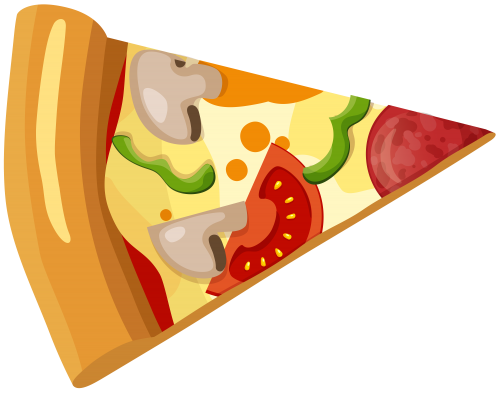 Pizza clip piece. Slice png art fast