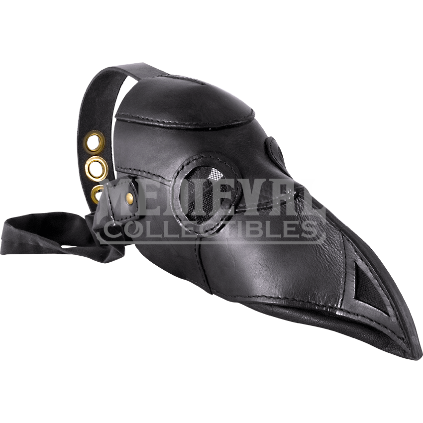 Plague doctor mask png. Leather mci from medieval