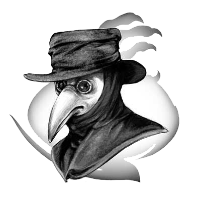 Plague doctor mask png. Doctors beaked physicians for