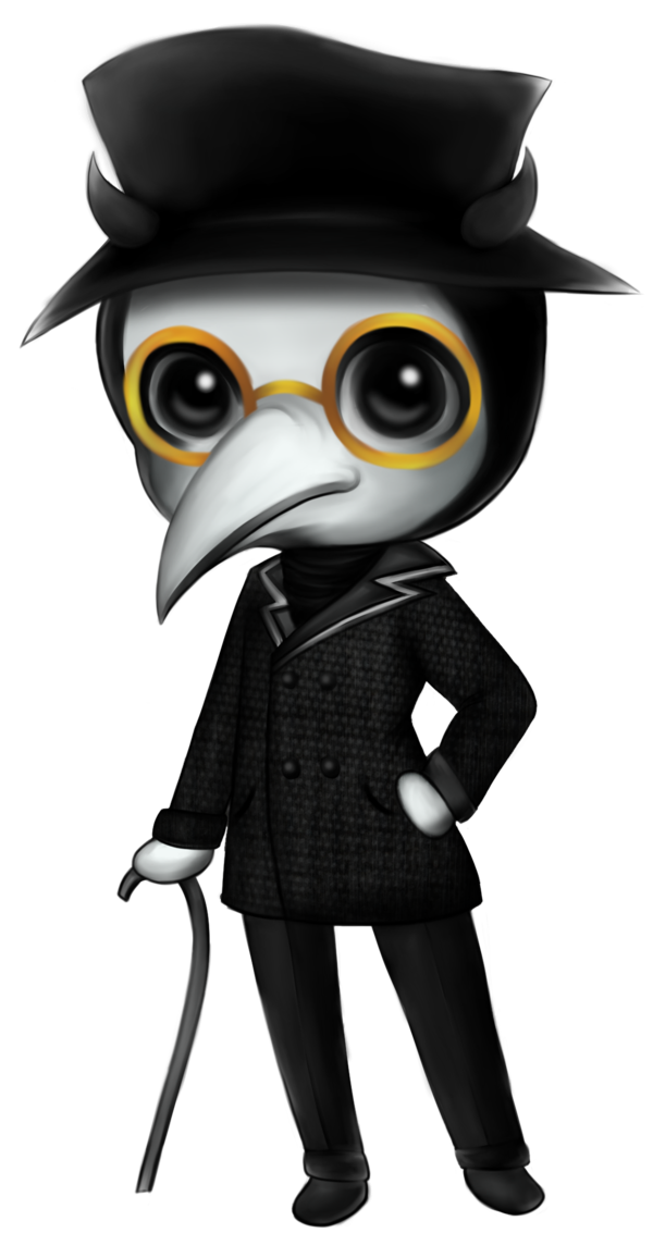 Plague doctor png. Chibi by royovi on