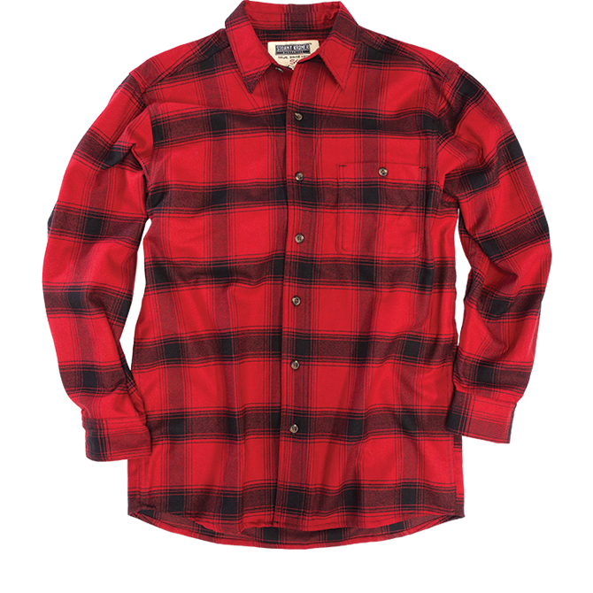 Flannel transparent black red