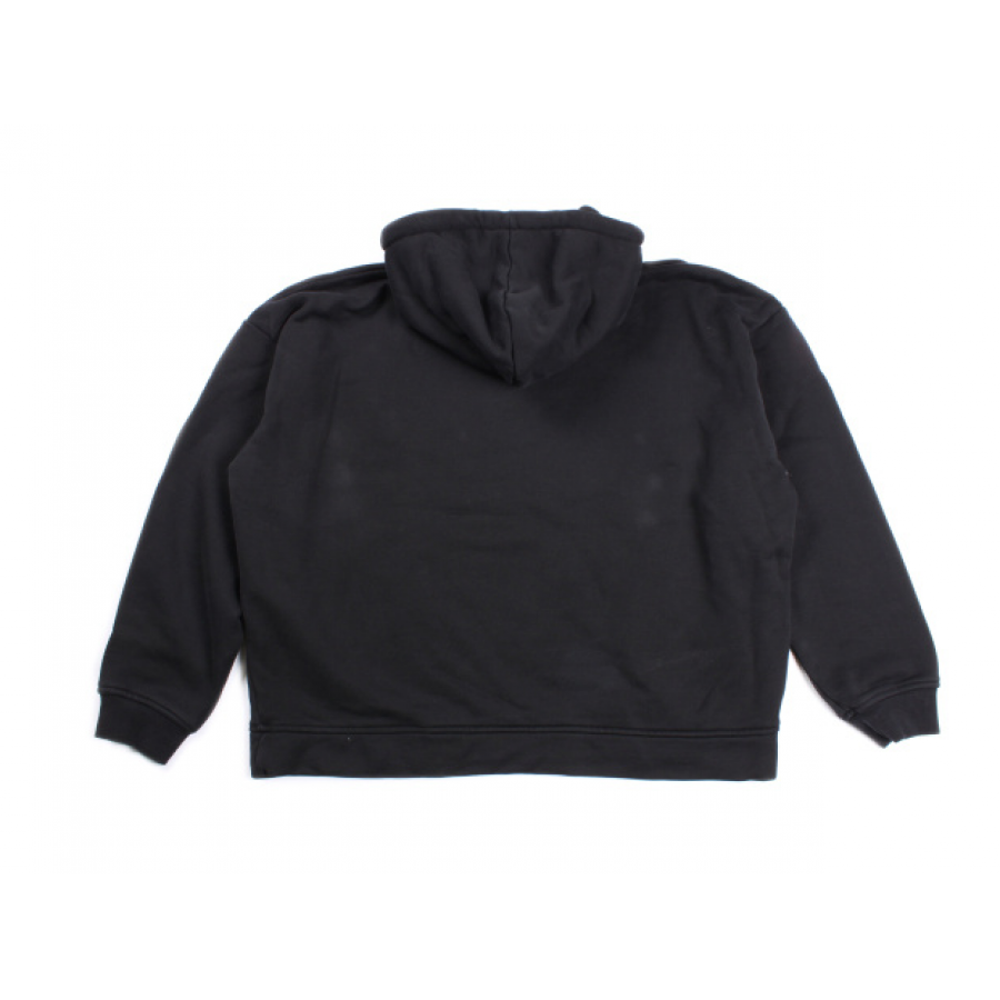 Hoodie transparent plain black. Yeezy zippered