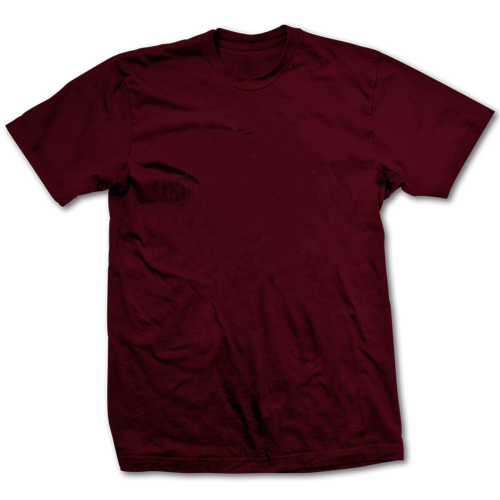 Transparent tshirt round neck. Maroon cotton and linen