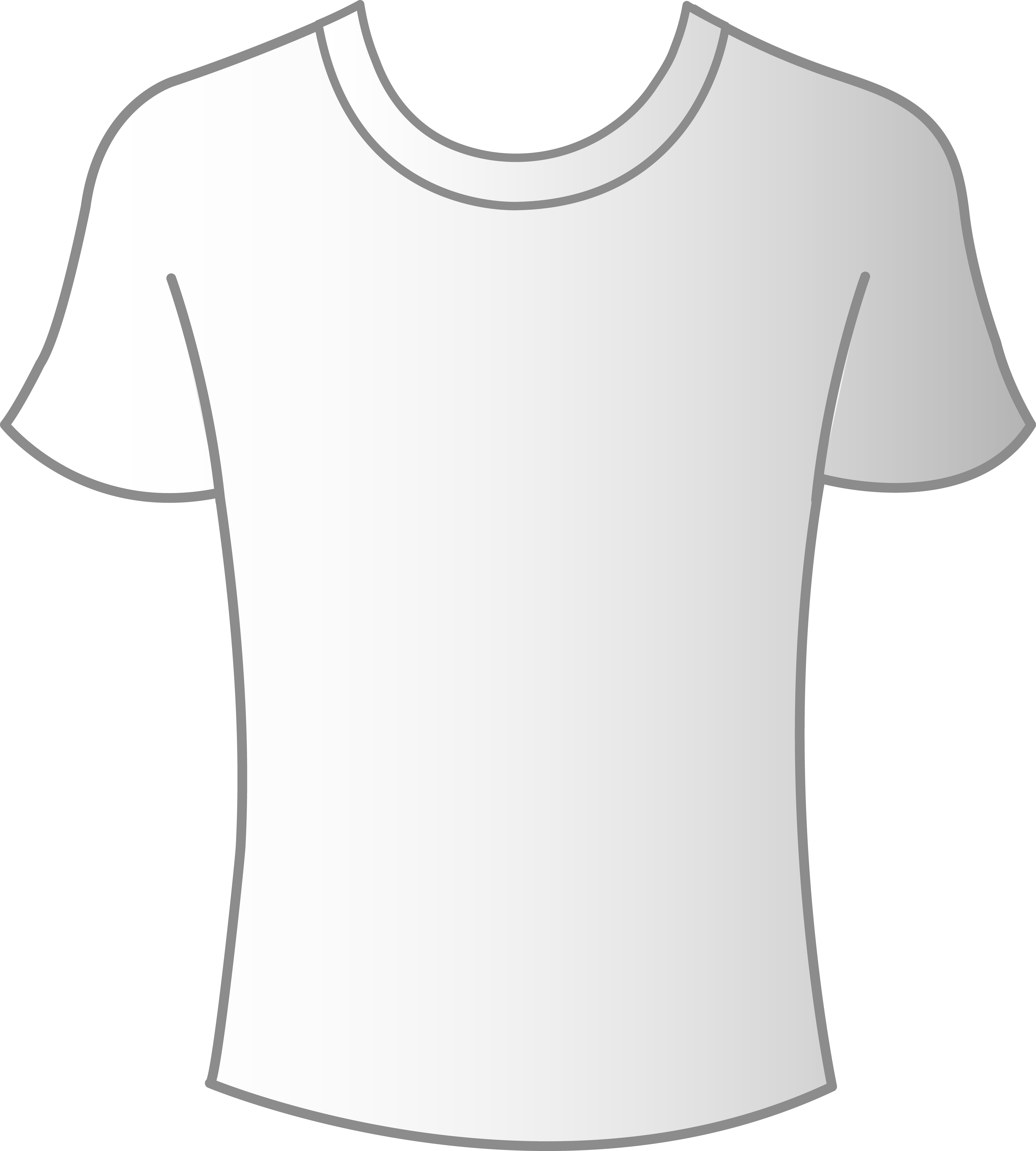 Mens template free clip. Plain white t shirt png clipart freeuse download