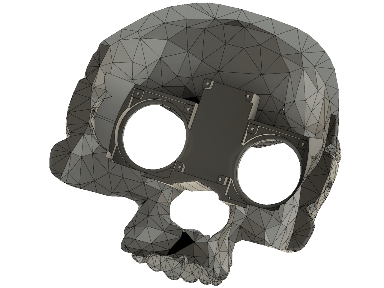 Planar drawing skull. Halloween costume with uncanny