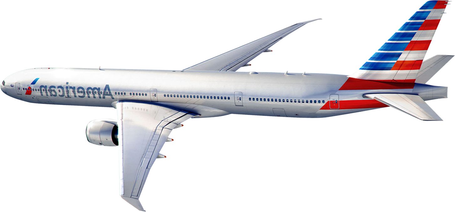 Plane banner png. American airlines transparent images