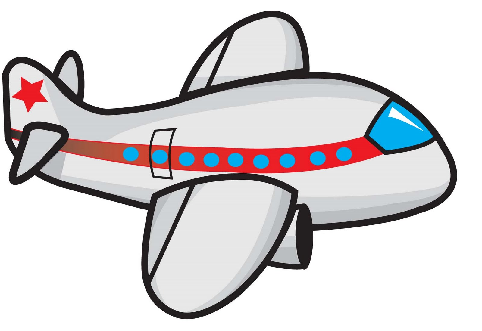 Plane clipart. Cartoon