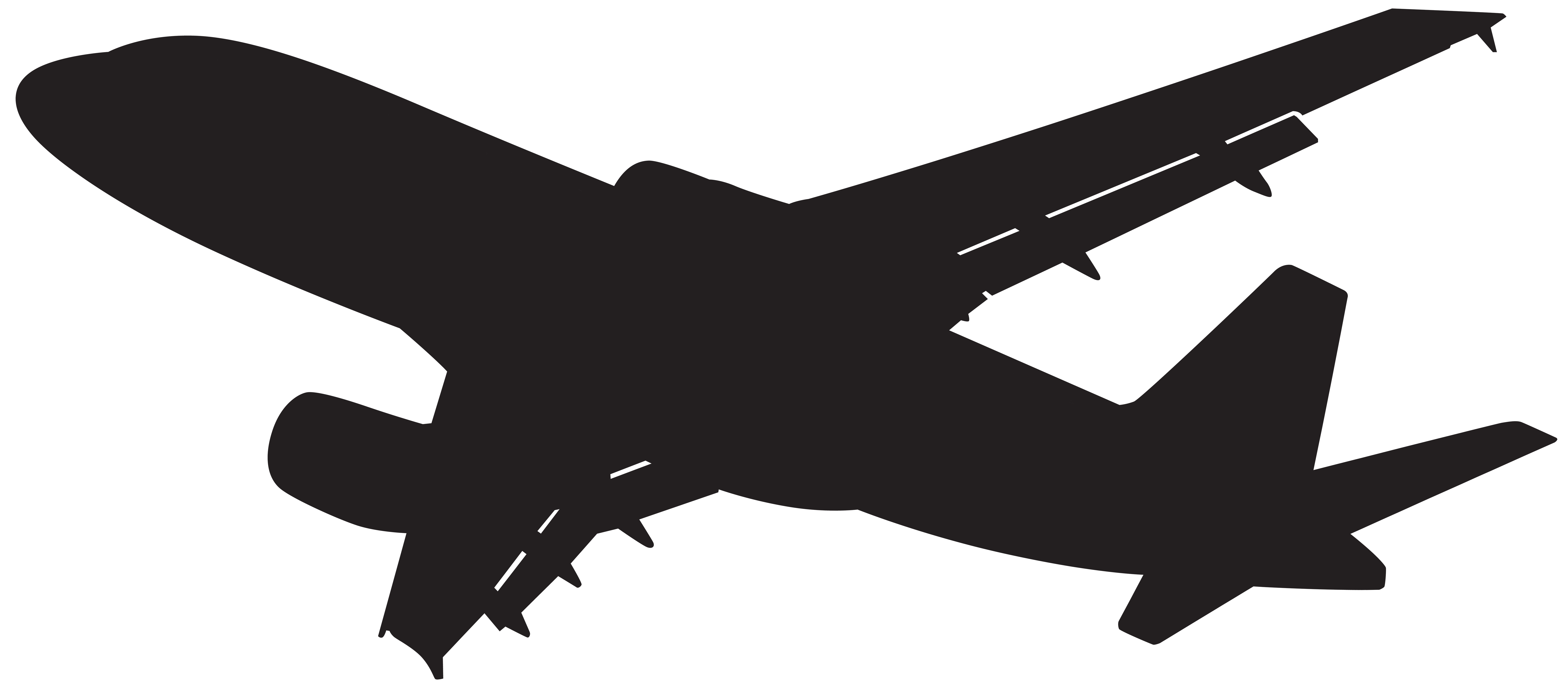 Plane clipart silhouette. Png clip art gallery