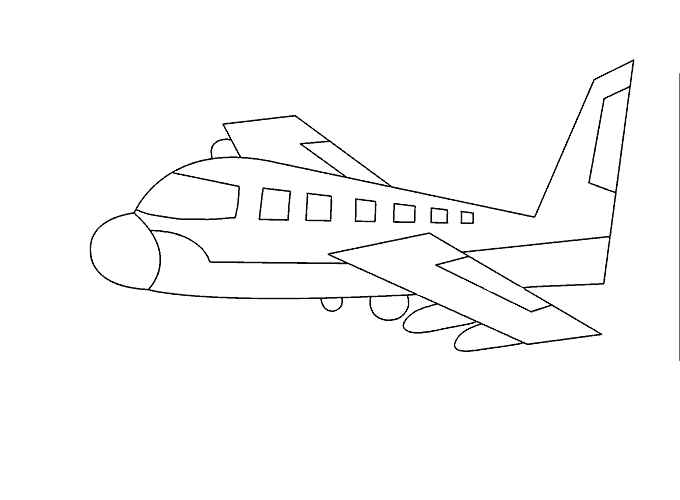 Plane drawing png. How to draw an