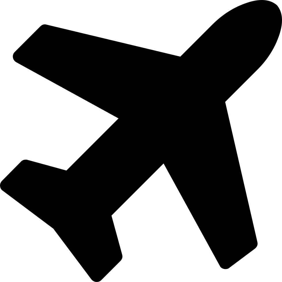 Aircraft vector icon. Plane svg png free