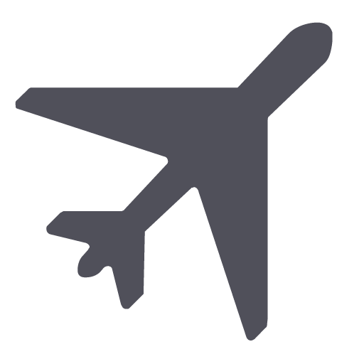 Plane png icon. App types in grey