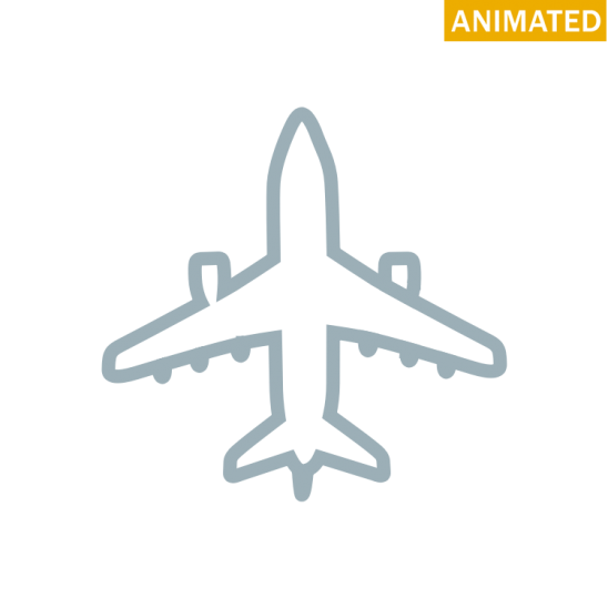 Plane Svg Animated Transparent & PNG Clipart Free Download - YA