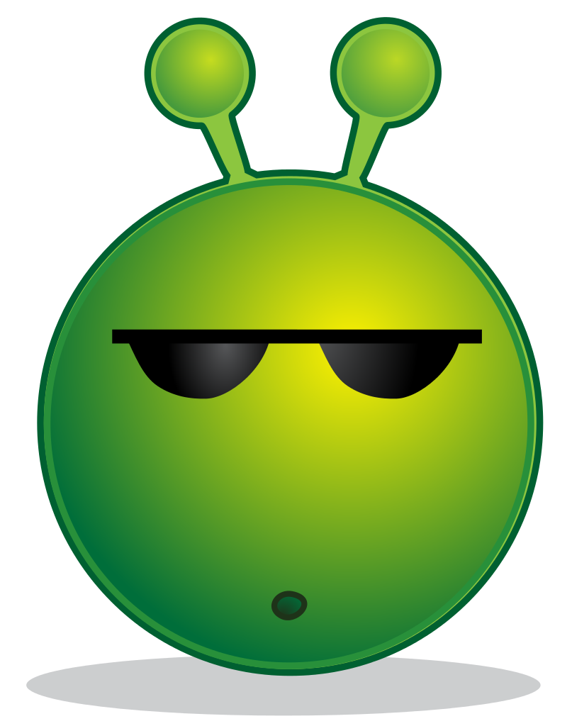 Plane svg emoticon. File smiley green alien