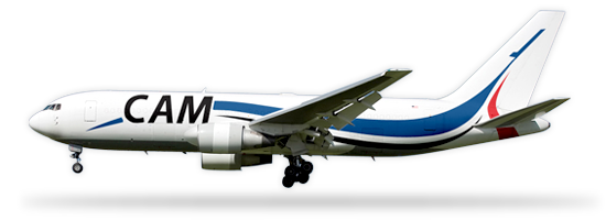 Planes drawing cargo plane. Aircraft management inc