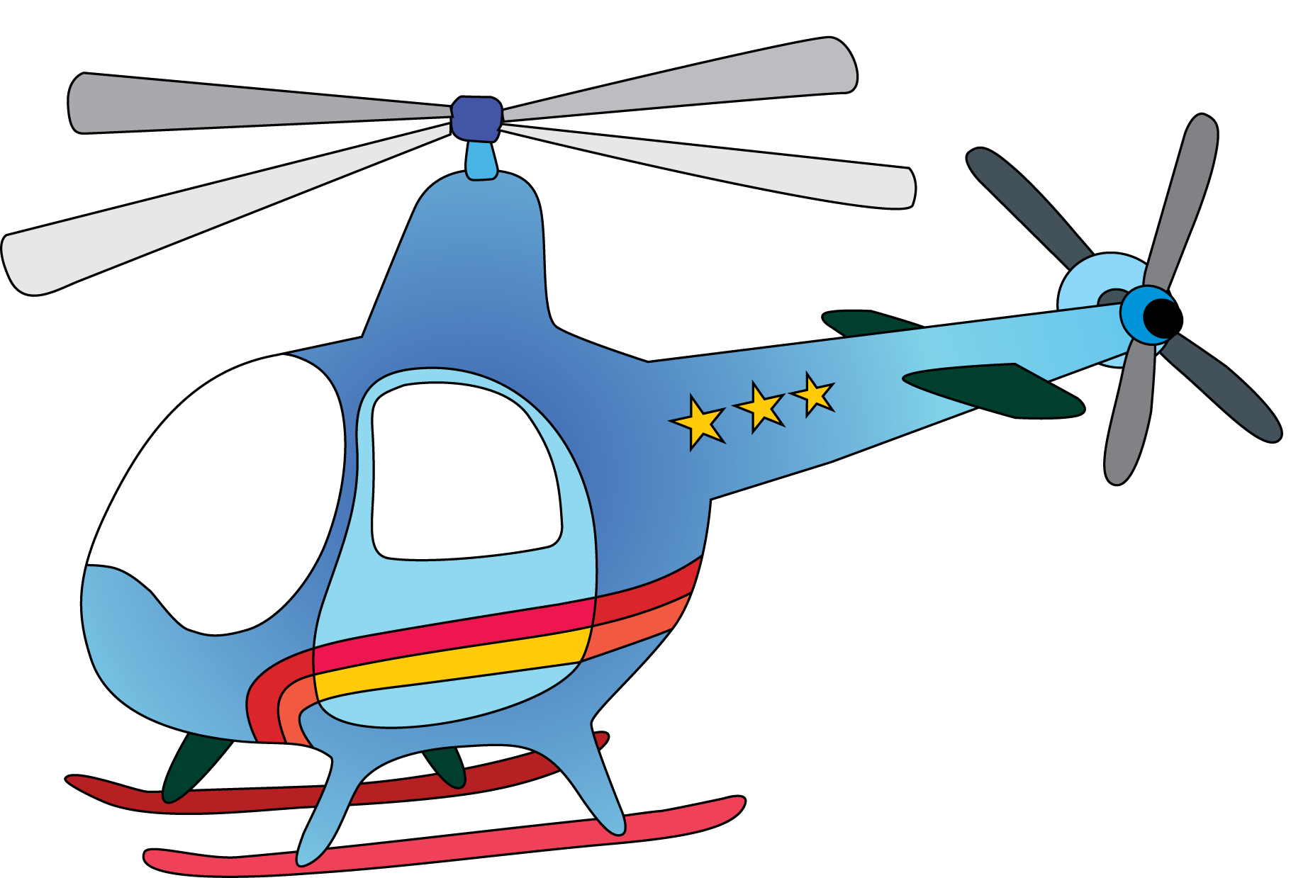 Drawing helicopters kid. Cute airplane clip art