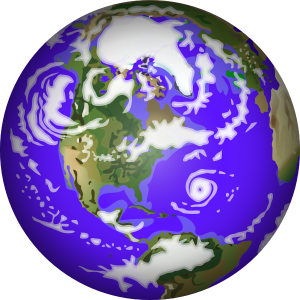 planeten clipart earth round