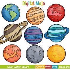Planeten clipart svg. Solar system and planet vector library download