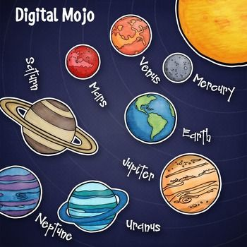 Planet solar system and. Planeten clipart picture free stock