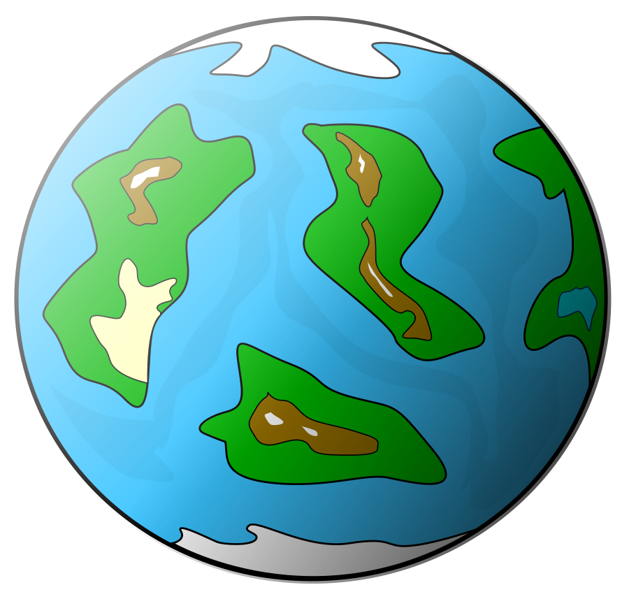 Planet clipart landscape. With rings vector clip