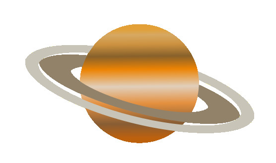 planet clipart orange planet