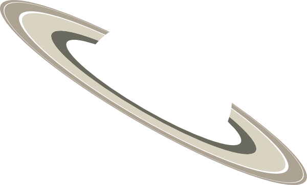 Transparent saturn overlay. Rings clip art at