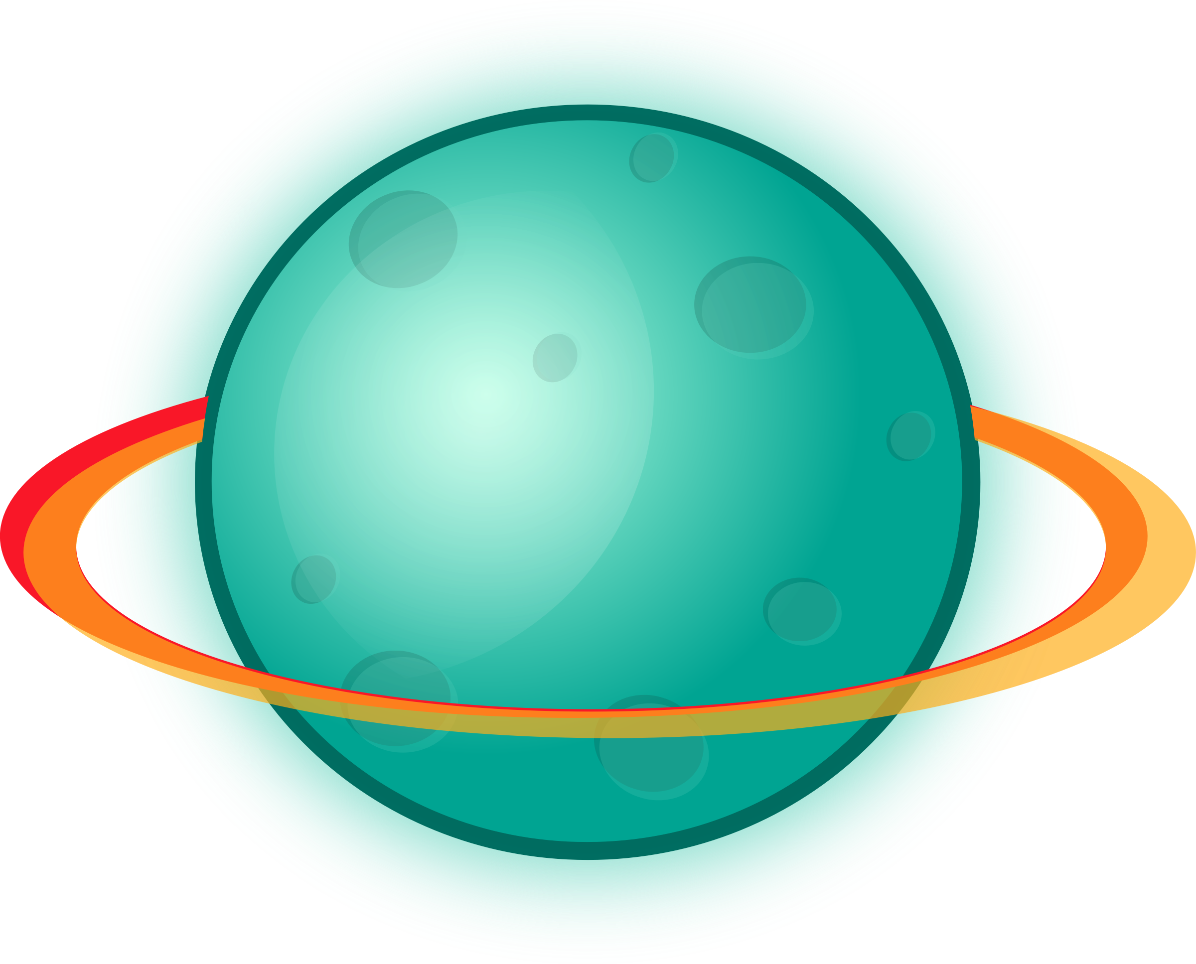 Planet svg colourful. With rings by magnesus