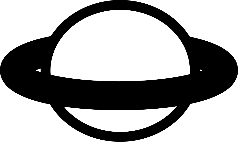 Planet svg ring logo. Shape with a around