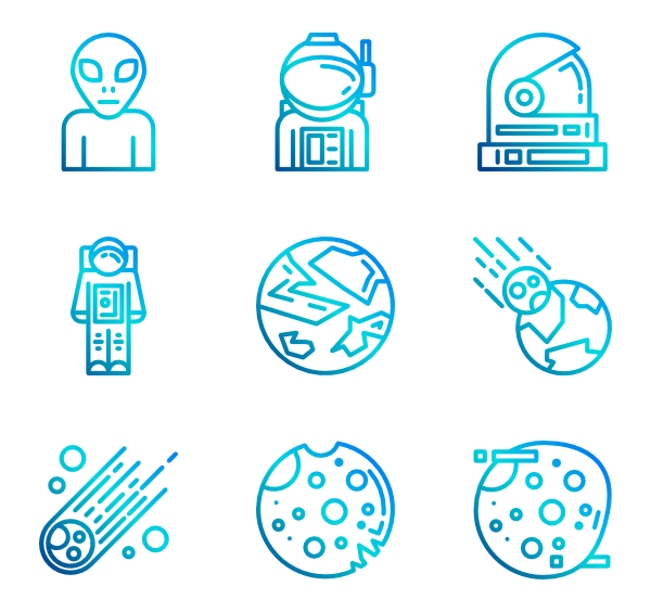 Planet icon packs. Spaceship svg blue banner royalty free library