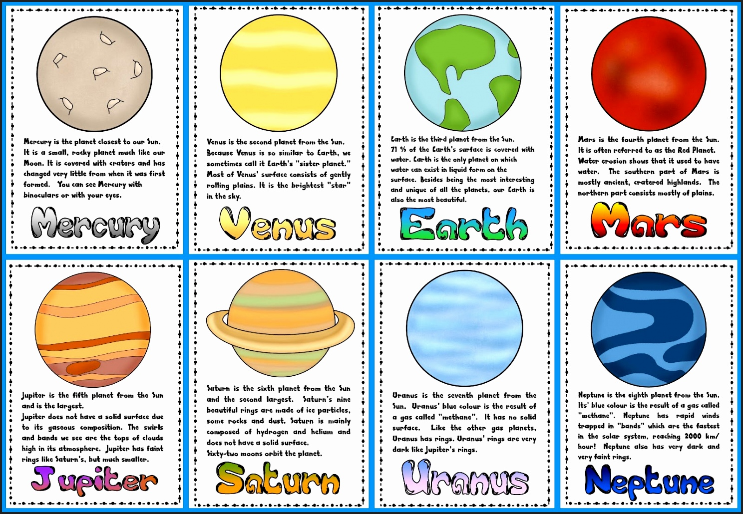 Planets clipart 8 planet. In our solar system