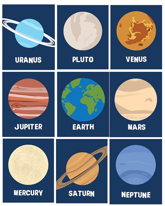 Planets clipart 8 planet. Art for boys and