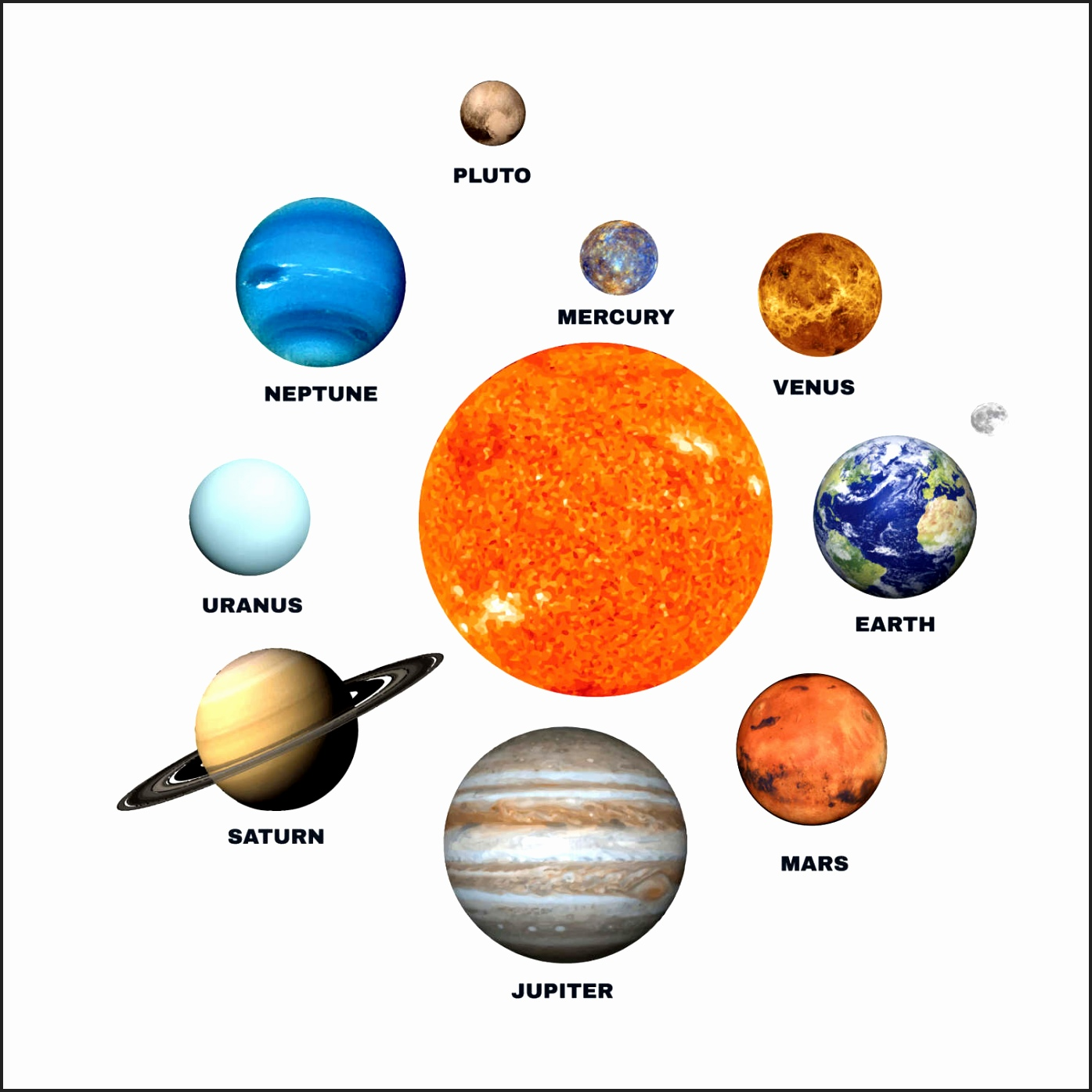 Planets clipart collage. Planet printable pencil and