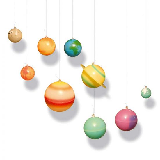 Planets clipart glowing. D solar system