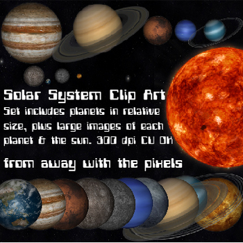 Planets clipart realistic. Solar system clip art