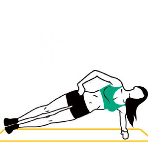 Plank plank exercise